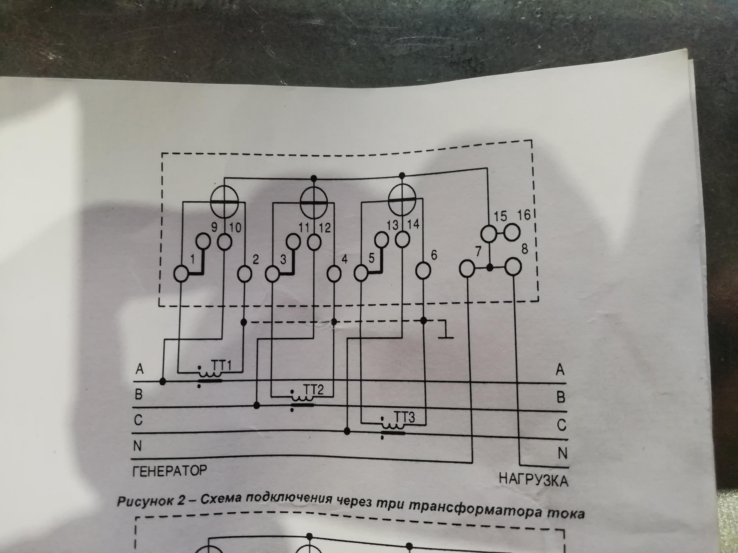 электросчетчика через ТТ