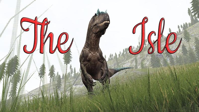 The Isle Аллозавр решил поохотиться на парика