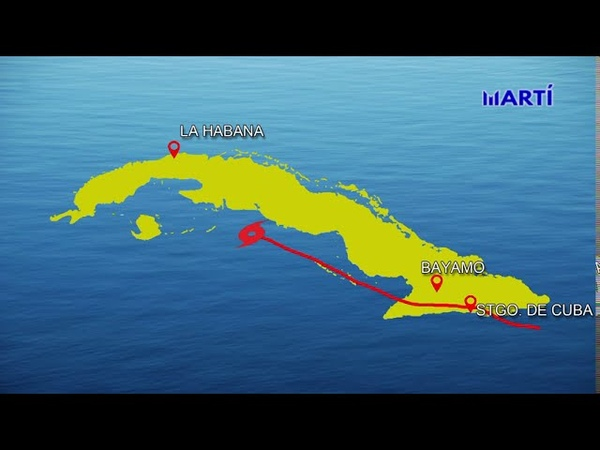 La tormenta tropical Laura tocó anoche suelo cubano