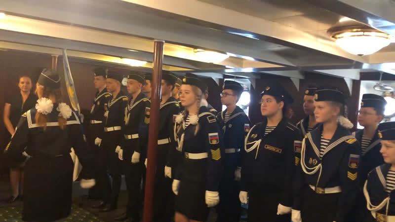Репортаж с торжественной присяги морских кадетов новобранцев на крейсере Аврора