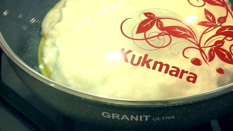 Готовим воздушный белковый омлет и сэндвич на сковороде Kukmara