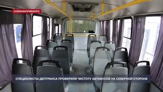 Грязные стёкла и спящая собака – что нашли чиновники в автобусах на Северной стороне