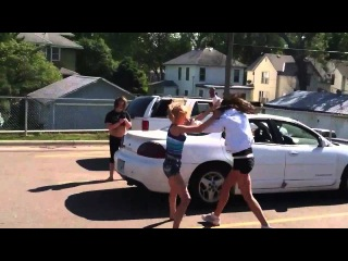White Girl with Trayvon Martin Hoodie vs. Barefoot Blonde Chick Fight