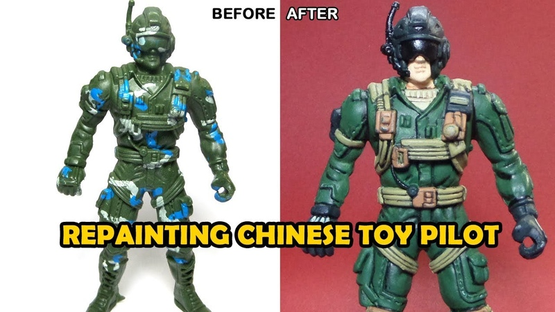 Repainting Cheap Chinese Toy Air Force Soldier Part 1