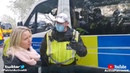 Police battered a 59yo man, then leave him with (poss. concussion) while they sit in their comfy bus
