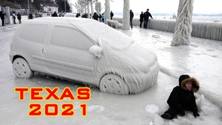 INCREDIBLE! It happened in Texas! Crazy Weather! Snow videos compilation! Black ice fails tiktok