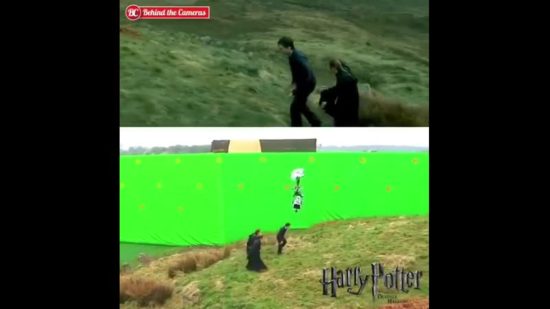 Harry Potter film with and without CGI