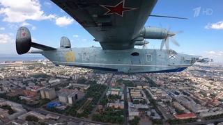 Морская авиация показала свою мощь в воздушной части Главного военно-морского парада.