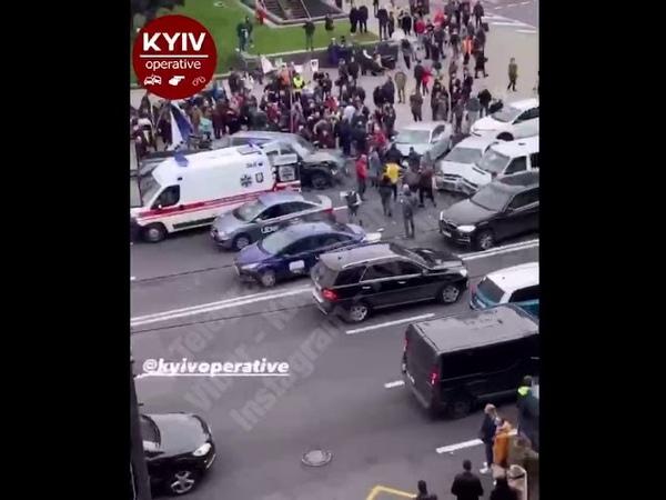 Масштабная авария на Майдане Независимости