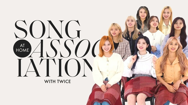TWICE Sings Adele Adam Levine and PSY in a Game of Song Association ELLE