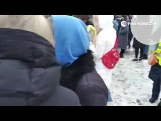 На незаконной акции в Петербурге пострадал сотрудник ОМОНа