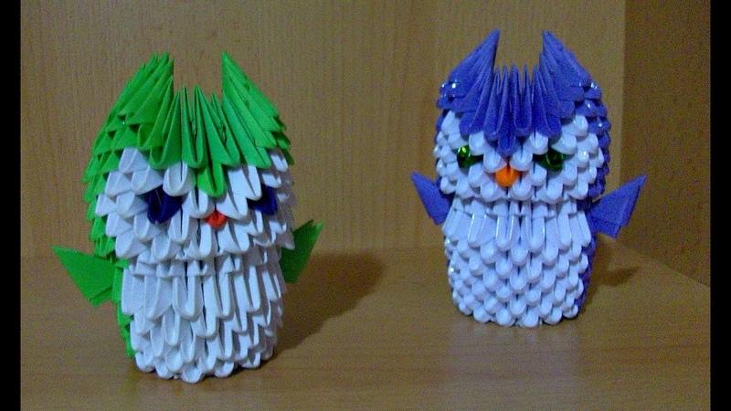 Подробный Мастер Класс Для Начинающих Модульное Оригами Сова Подставка Для Ручек и Карандашей
