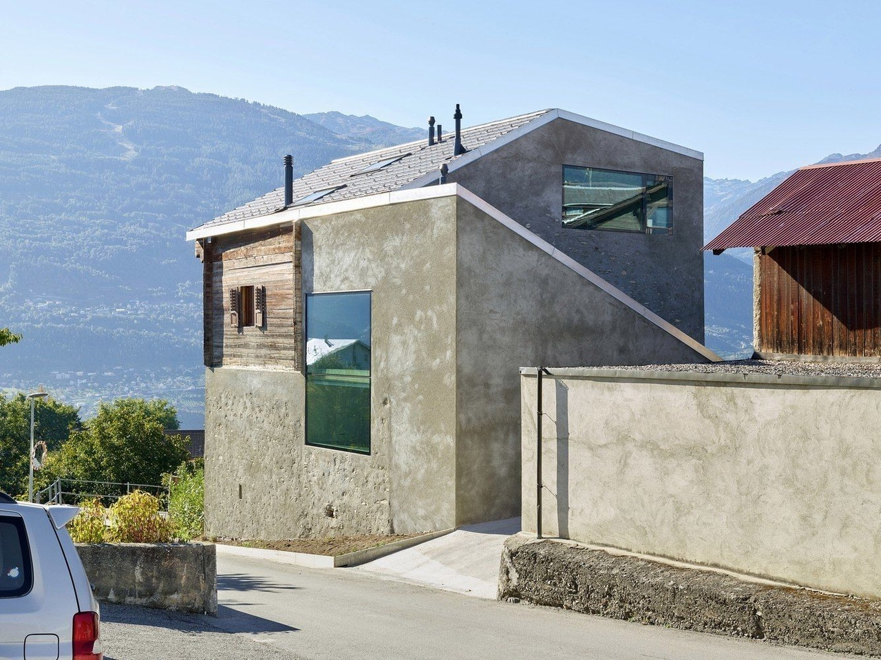 ReynardRossi-Udry House by Savioz Fabrizzi Architectes in Ormône, 1965, Switzerland