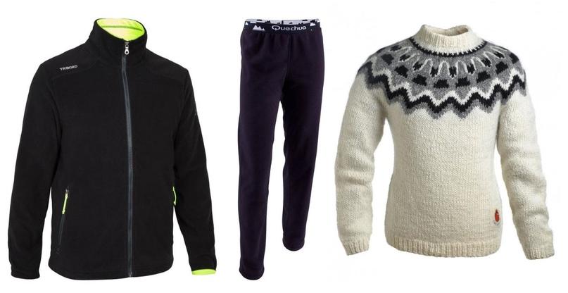 Флисовая толстовка и брюки, шерстяной свитер