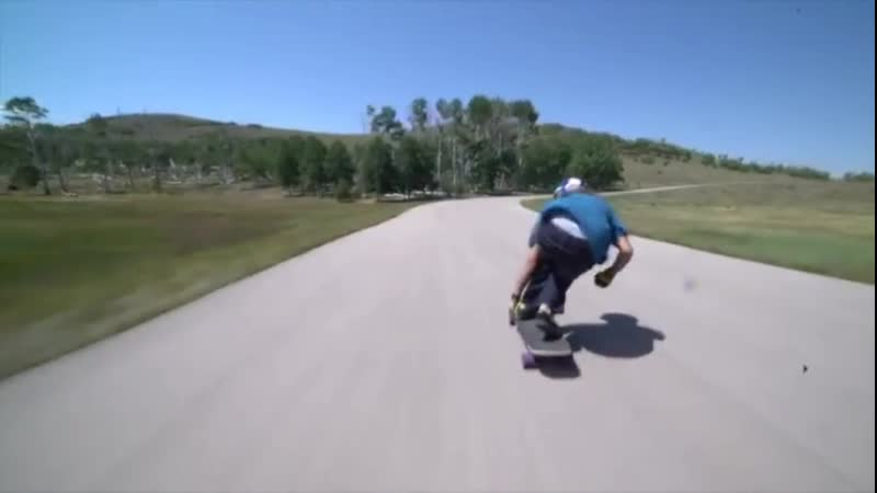 Downhill longboard riders