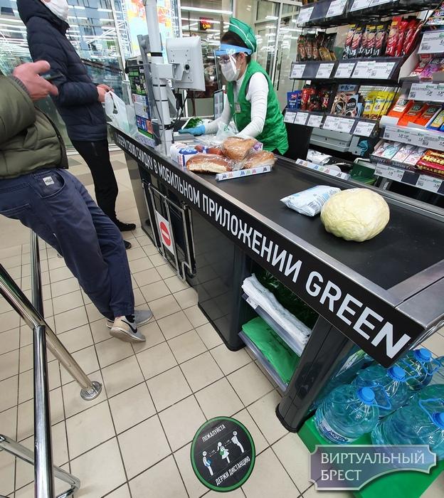В магазинах Бреста — меры предосторожности в интересах покупателей и работников