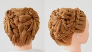 Acconciature Facili e Veloci per ragazze 😍 Beautiful Bun Hairstyle for Wedding and Party #shorts