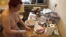 Food. Turkey . Naturist family. Naturist is cooking. Naturist. Nudist. INF. Blogger .