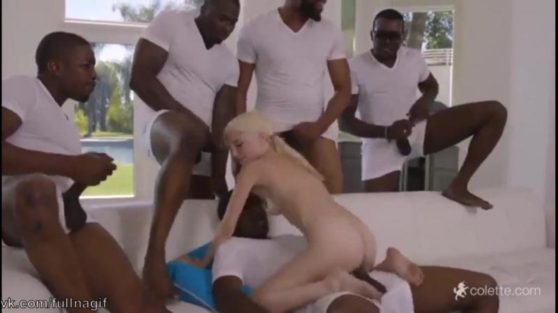 То самое порно с блондинкой и 5 неграми порно, секс, трах,