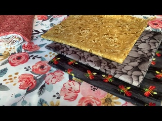"""Лоскутный эфир  374а. Печворк. Набор тканей на Лоскутное одеяло """"У-син. Розы и пионы"""""""