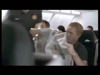 Супер сейв Ван дер Сара в самолёте)