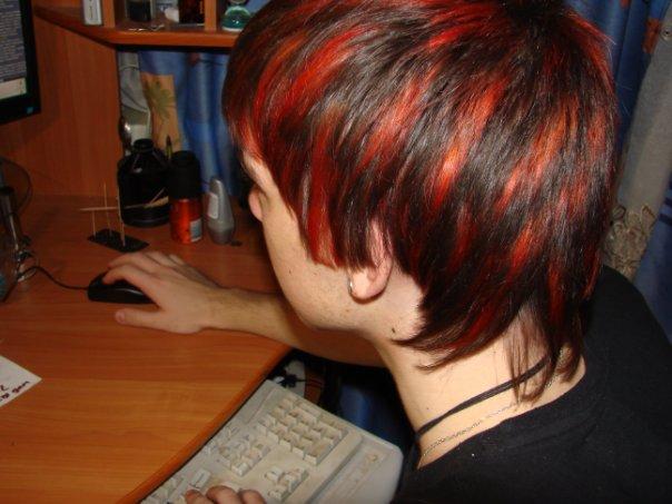 Красная голова ))))) Синяя борода ))))