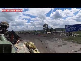 Славянск 29 июня / Передвижение украинских силовиков под открытым огнем - Эксклюзив /