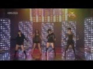 Taeyeon (SNSD), Gain(), Sunye(Wonder girls), Nam gyu ri - Buttons (081226, HD Live)