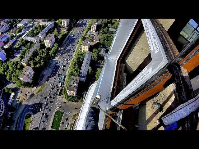 52 этаж страшно красиво и опасно алюминиевые окна монтаж альпинистами
