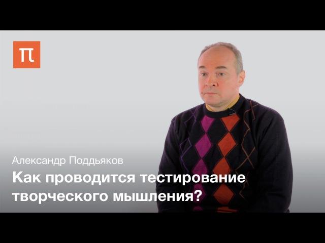 Тестирование умственных способностей - Александр Поддьяков