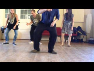 Jitterbug Stroll Recap with special High 5 move (Skye, Marie, Naomi, and Peter) - JoJ 2014