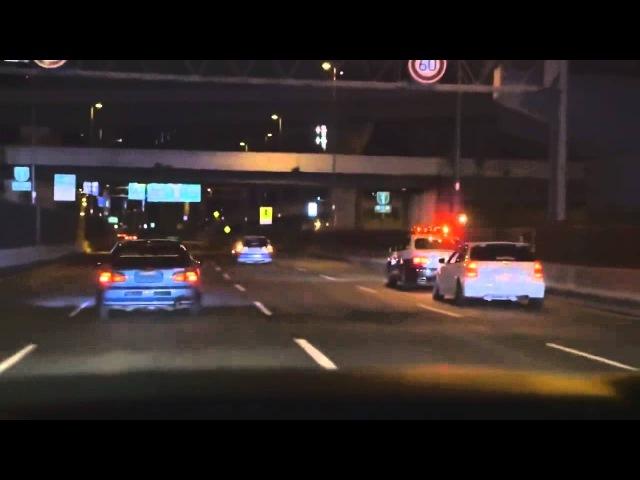 Osaka gang patrol car 環状族 大阪府警 パトカー 妨害&煽り