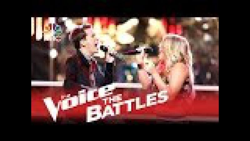 The Voice 2015 Battle - Evan McKeel vs. Riley Biederer Higher Ground
