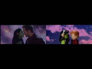 Guardians of the Galaxy Lego Trailer Comparison