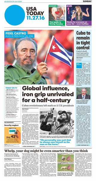USA Today  November 27 2016