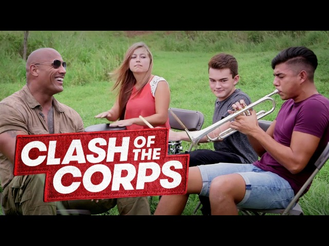 CLASH OF THE CORPS and The Rock On The Set of Jumanji!