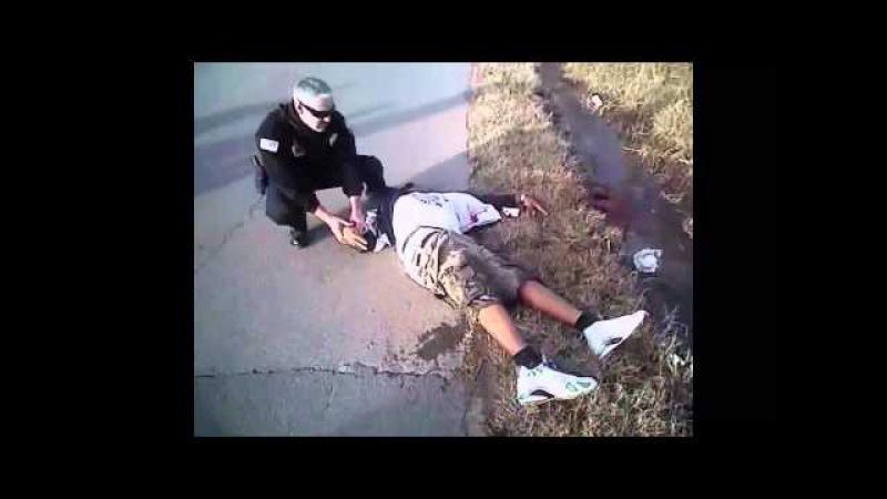 Самые демократичные стражи порядка. В США обнародовано видео убийства полицейским. [ВНИМЕНИЕ 18]