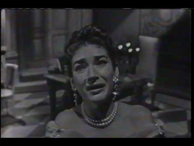 MARIA CALLAS sings Vissi D'arte on November 25 1956