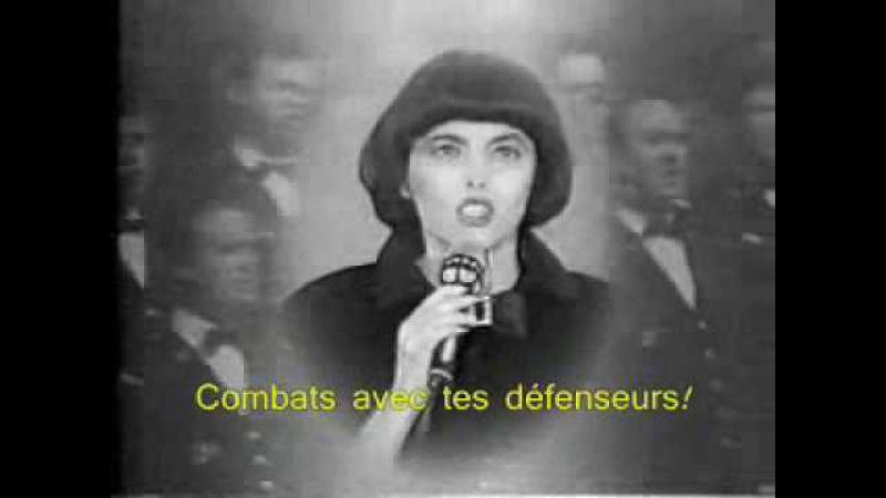 Mireille Mathieu singing La Marseillaise with lyrics