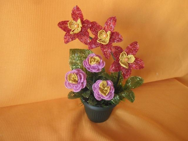 Композиция цветов «Весеннее настроение» Урок №2