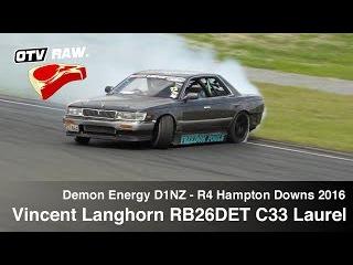 RAW: Vincent Langhorn RB26DET C33 Laurel - D1NZ Drifting R4 Hampton Downs 2016