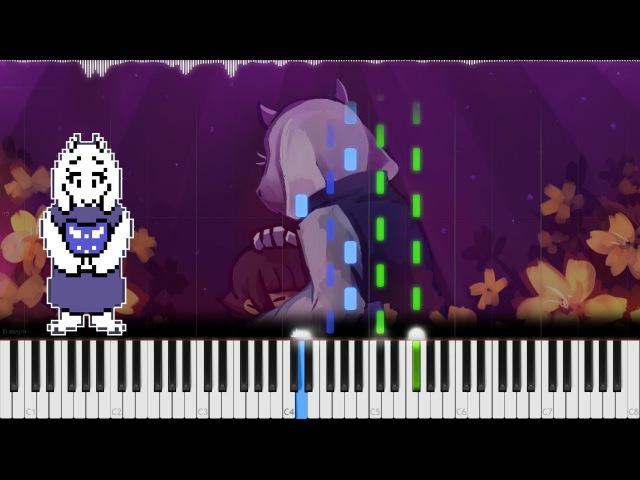 Undertale Fallen Down (Reprise)   LyricWulf Piano Tutorial on Synthesia TuTORIEL OST 85