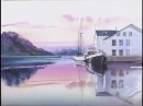 How to add reflections : Line Wash WaterColor painting Demo
