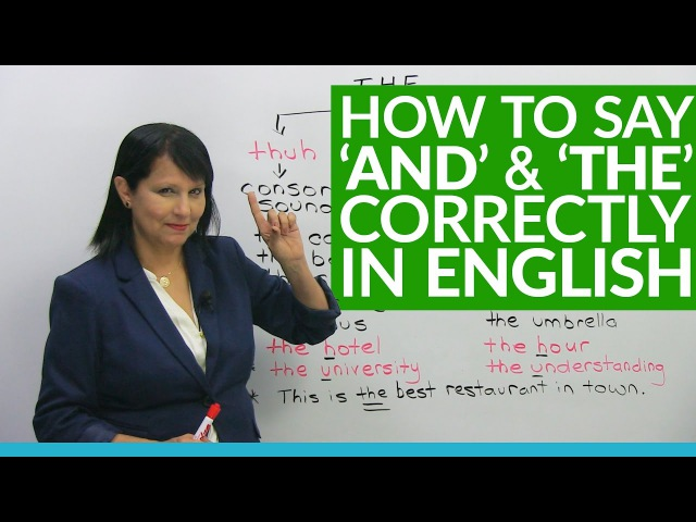 How native speakers say AND THE in English