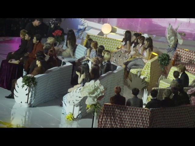 [HD Fancam] 161119 EXO, TWICE, BLACK PINK, Red Velvet, Apink - Offstage Reaction Cut @ MMA