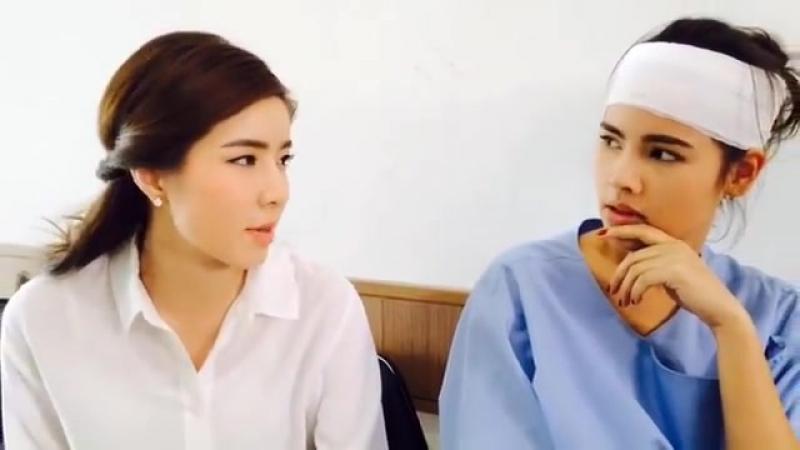 На съёмках лакорна Тайна перевоплощения Leh Lub Salub Raeng Таиланд будущий лакорн