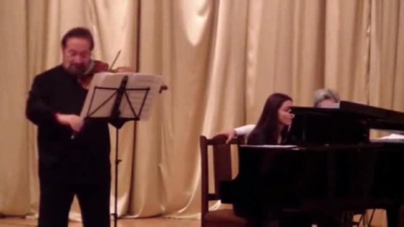 The 2nd part of a recital played by Boris Livschitz Violin Georgy Avanesov Sofia Mikaelian Pianoo