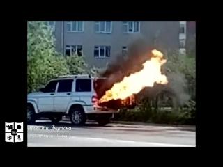 В Якутске взорвался газовый баллон у УАЗ