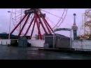 Ferris wheel in Ocean CIty spinning from the wind