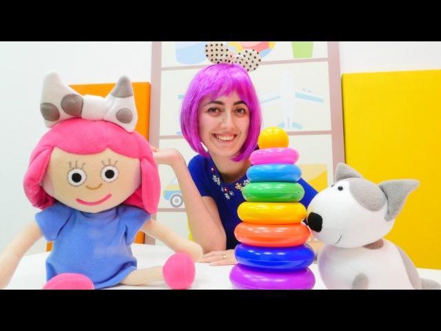Eğiticivideo Çizgi filmden Smarta ile renkleri öğreniyoruz ve halka oyunu oynuyoruz Çocukoyunları